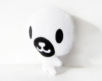 Plush white seal
