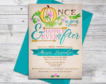 Printable Fairytale Invitation Whimsical Baby Shower