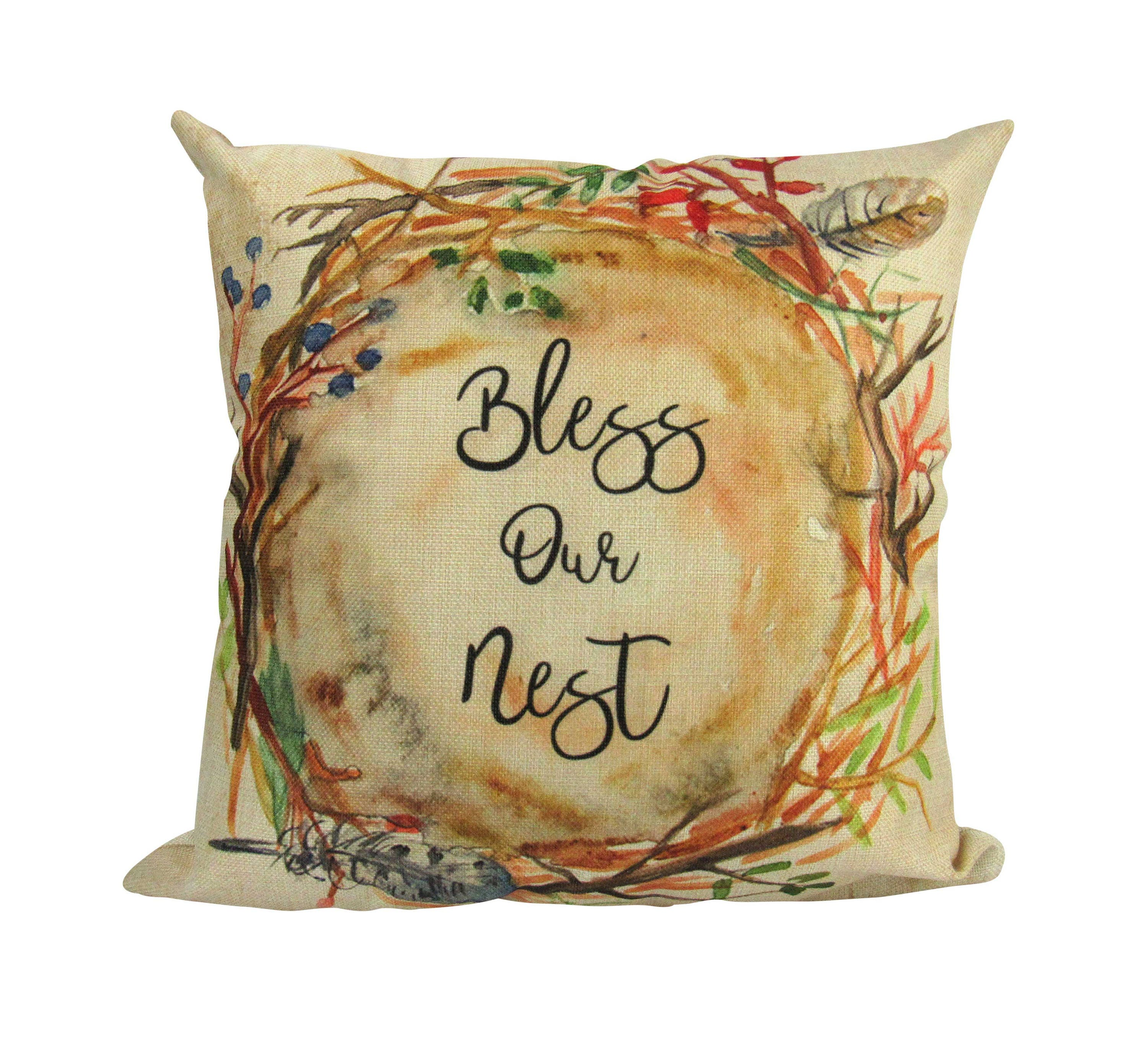 Bless This Nest Pillow Cover Our Nest Our Nest Pillow