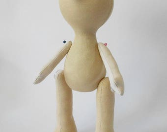 PDF instructions pattern Making a doll body Tutorial PDF Soft Doll PATTERN  Cloth Doll Pattern Textile doll Guide to the doll Tutorial doll