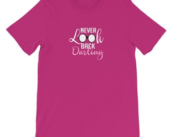 Never Look Back Darling Edna Mode Incredibles Shirt | Fun Disney Shirts | Pixar Movie Shirts | Short-Sleeve Unisex T-Shirt