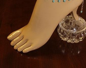 Anklet Bridal Anklet Wedding Anklet Body Jewelry Beach Wedding Anklet Pearl Anklet Beach Anklet Rhinestone Anklet
