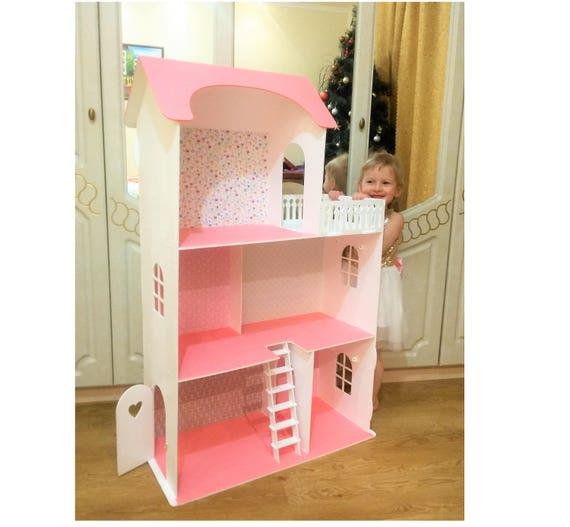 Big Barbie Dollhouse With Furniture Wooden Dollhouse Barbie