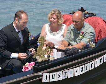 Just Married Wedding Banner Garland Shabby Chic White Wood Tiles Banner Photo Prop Wedding Banner