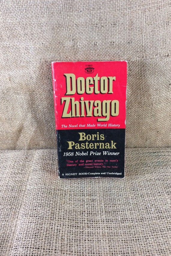 Doctor Zhivago by Boris Pasternak 1960 soft cover edition, the celebrated novel of the century, vintage book, give the gift of vintage