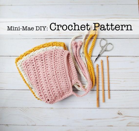 Crochet Pattern Pixie Bonnet Pattern Crochet Bonnet Pattern Baby
