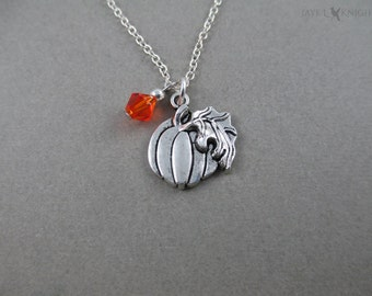 CLEARANCE - Cinderella Pumpkin Charm Necklace - Silver Charms