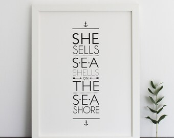 She Sells Sea Shells Print
