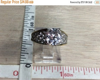 10%OFF3DAYSALE Vintage 925 Sterling Silver 4.7g Gold Washed Cz Ring Size 7 Used