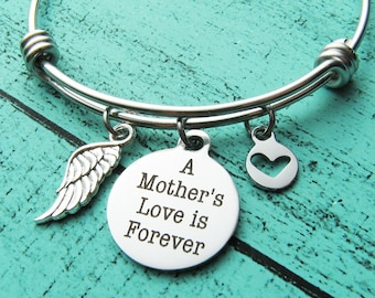 memorial jewelry mom, memorial bracelet, sympathy gift, loss of mother, in memory of mom, remembrance jewelry, moms bracelet
