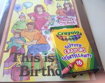 This is My Birthday Coloring Book