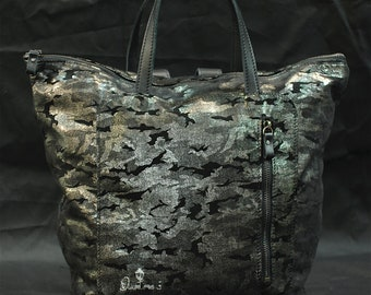 Bakbag Backpack Total special leather camouflage bag