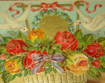 Pretty Vintage Floral and Doves #2