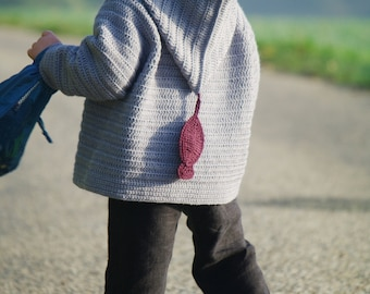 2 Crochet sweater pattern with hood  Size 3years