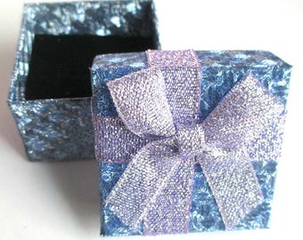 1 box for rings color blue box knot purple 35mm