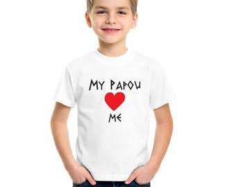 Children's Greek T Shirts - Yiayia + Papou Love Me