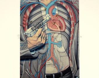 Poster art-Ashes to Ashes No. 1-Print, illustration, anatomy, art print, modern design