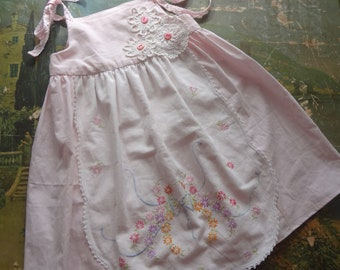 OOAK Child's Girl's Dress Sundress Upcycled Boho Country - Atlantic Rock Threads