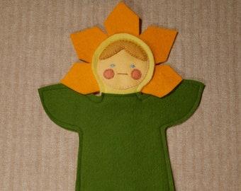 Wool Felt Flower Puppet