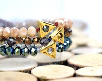 Beaded Bracelet / Dainty Bracelet / Friendship Bracelet / Geometric Bracelet / Christmas Gift For Her / Stocking Stuffers
