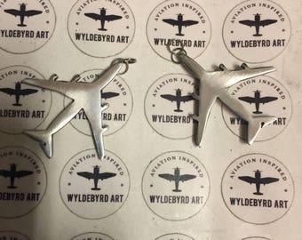 Small B747 Aircraft charms.