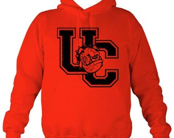 Union College 'UC' Red & Black Contrast Hoodie