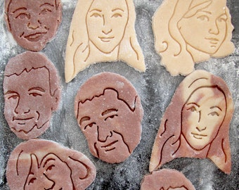 Your Portrait, Face Portrait / custom cookie cutter / Personalized gift / Custom Selfie Cookie Cutter / for Bridal Shower / Anniversary
