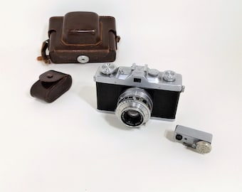 Vintage Lordox 35mm Film Camera by Leidolf Wetzlar, 24X35, with Case & Range Finder