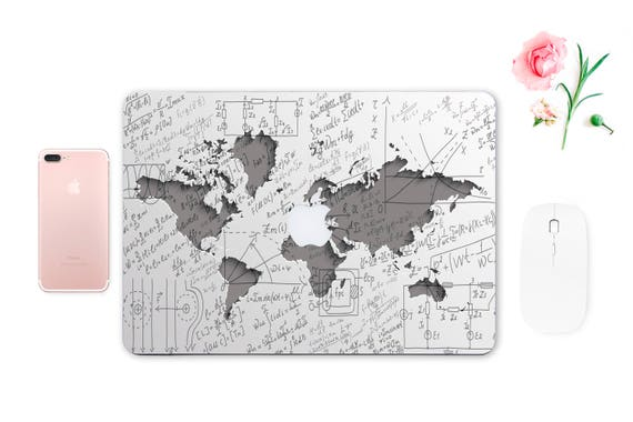Macbook map sticker decal macbook air 13 apple protective full gumiabroncs Gallery