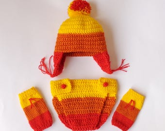 Jayne Cunning Hat and Diaper Cover With Leg Warmers, Firefly Jayne Hat, Jayne Cobb Earflap Hat  Halloween /Cosplay Wig/Baby Shower