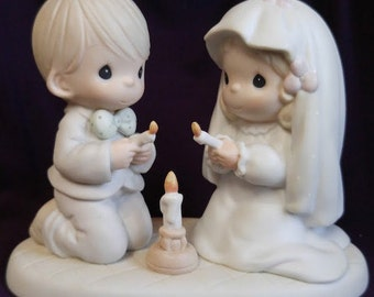 The Lord is Your Light to Happiness Precious Moments Figurine