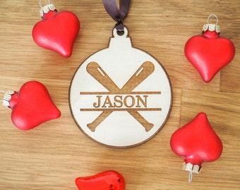 Baseball Ornament - Baseball Gift - Baseball Coach Gift - Baseball Player Gift - Personalized Baseball Ornament - Personalized Baseball Gift