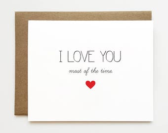 Funny anniversary card, Funny I love you card, Valentine's day card for boyfriend, Best friend card, Cheeky anniversary card, Card for him
