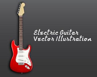 Electric Guitar Vector File