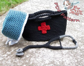 Crochet pattern, Doctor play set pattern, toddler, child crochet pattern, nurse, doctor crochet pattern, permission to sell, crochet patter