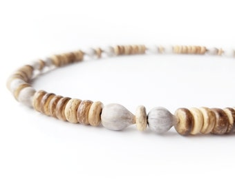 Men's jewelry - wooden necklace with home grown beads - Nordic Jobs Tears