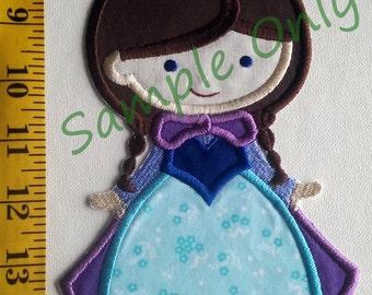 DIY Iron On Appliqué Patch Winter Princess