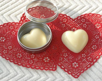 """FREE SHIPPING / Heart Shape / Shea Butter/Cocoa Butter  """"Your Scent Choice"""" Body Bar-Solid Lotion Bar"""