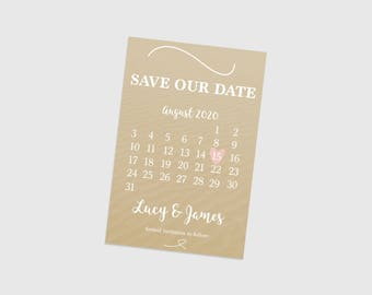 Digital printable personalised 'SAVE THE DATE' card