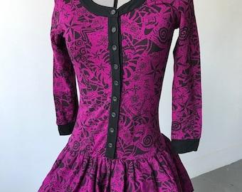 Betsey Johnson graphic cotton bubble dress