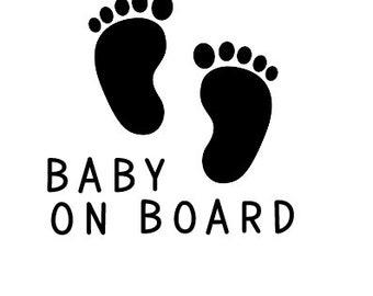 Baby On Board Car Child Children Window Bumper Sticker Vinyl Decal Funny