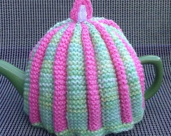 Hand Knitted Pleated Tea Cosy