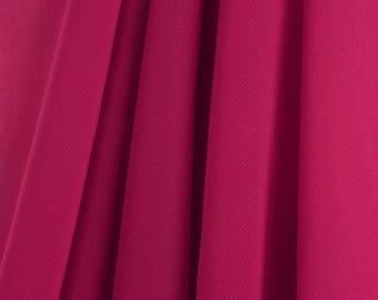 "60"" Wide - High Quality 100% Polyester Chiffon Sheer Fabric - HOT PINK"