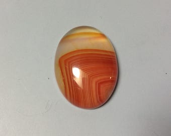 Red Agate with line cabochon 15x20mm
