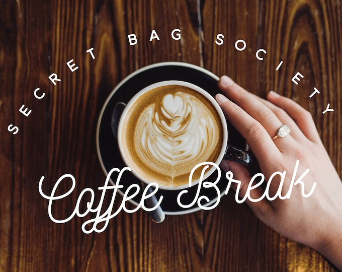 Large Project Bag with Witch & Willow Handmade Soy Candle, Surprise Bag, Secret Bag Society:  March - Coffee Break (1 month subscription)
