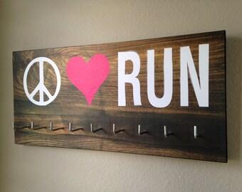 Race Medal Holder - Peace Love RUN