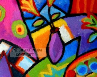 Crocus Flower (Textured Painting)