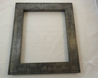 10x12 Curly Maple Silver Gray Dye Picture Frame
