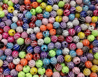 Round Spacer Beads,Shiny Bling Beads,Glitter Beads,Bright Beads,Acrylic Beads,Beading,100Pc,8mm,Jewelry Making Supplies,DIY,Free Shipping