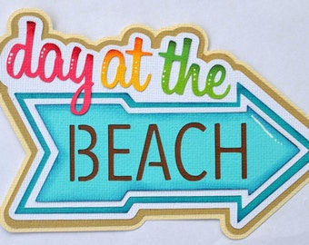 A day at the Beach for Premade scrapbook page Layout paper piecing CraftEcafe
